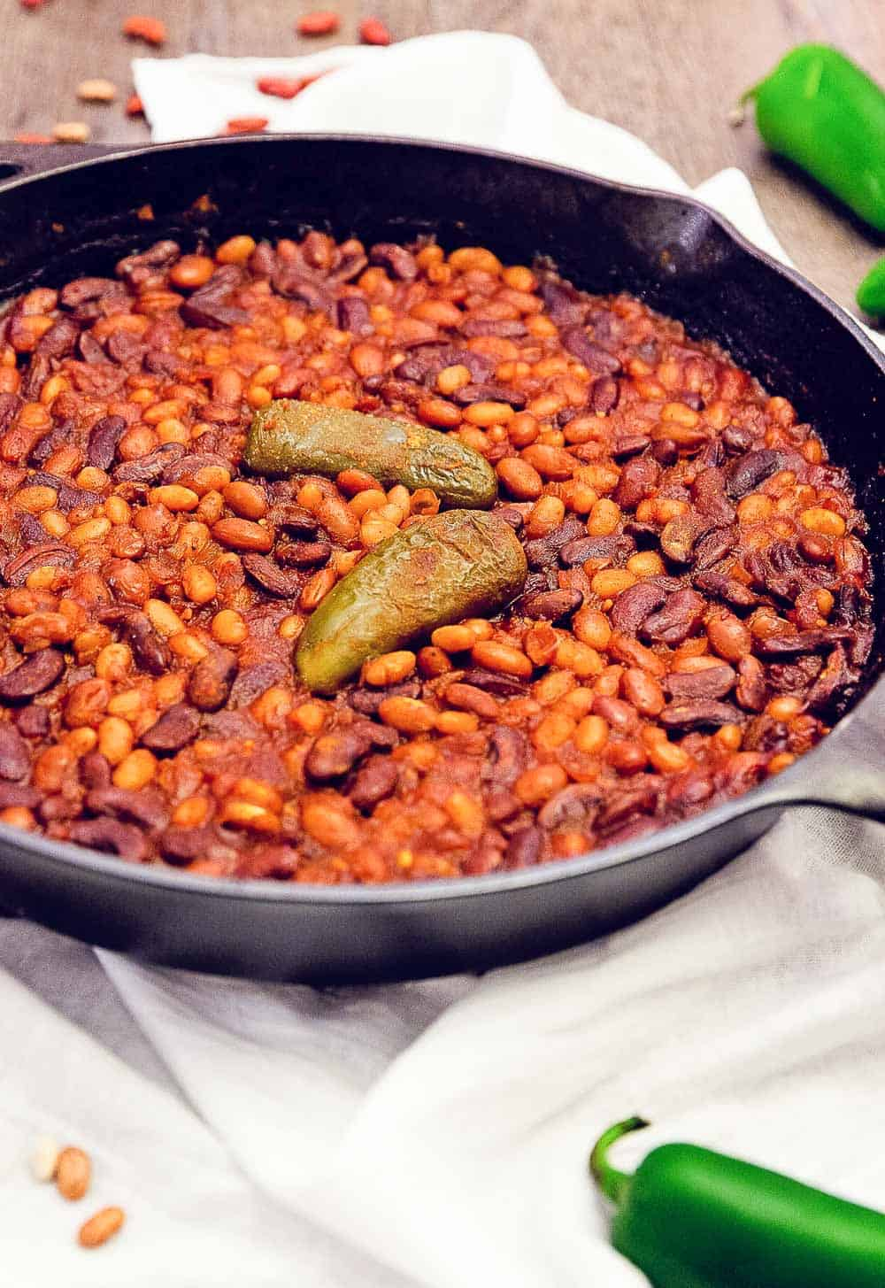 bbq baked beans, whole food plant based, side, beans, bbq, baked beans, gluten free, oil free, refined sugar free, healthy, vegan, vegetarian