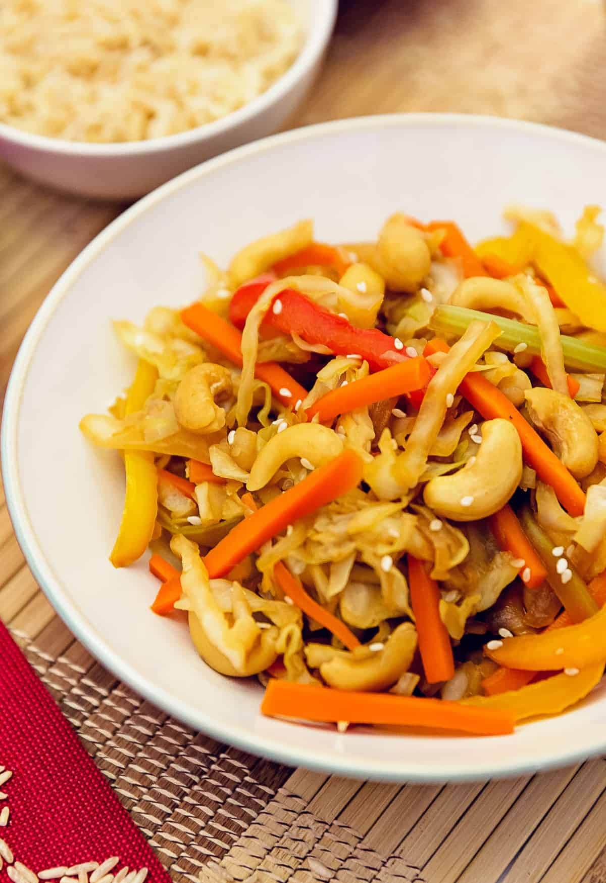 Cashew cabbage stir fry monkey and me kitchen adventures whole food plant based cashew cabbage stir fry the best cashew cabbage stir fry forumfinder Choice Image