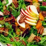 harvest salad, salad, recipe, vegan, vegetarian, whole food plant based, wfpb, gluten free, oil free, refined sugar free, no oil, no refined sugar, no dairy, dinner, lunch, appetizer, dinner party, entertaining, simple, healthy
