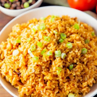 Mexican rice, rice, vegan, vegetarian, whole food plant based, gluten free, recipe, wfpb, healthy, oil free, no refined sugar, no oil, refined sugar free, lunch, dinner, easy, fast, quick, dinner party, entertaining, quick dinner, fast dinner, dairy free, no dairy, Southwestern
