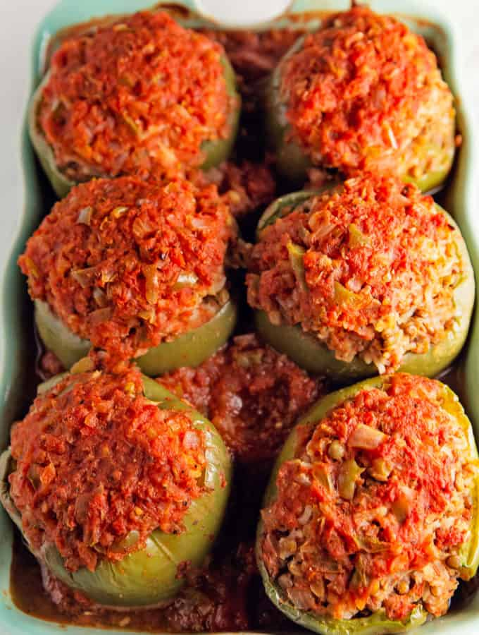 Old fashioned stuffed peppers, stuffed peppers, vegan, vegetarian, whole food plant based, gluten free, recipe, wfpb, healthy, oil free, no refined sugar, no oil, refined sugar free, lunch, dinner, dairy free, classic, traditional
