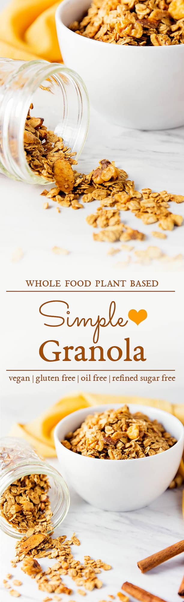 simple granola, granola, granola parfait, simple parfait, blueberry parfait, maple berry parfait, blueberries, berries, banana, parfait, recipe, vegan, vegetarian, whole food plant based, oil free, no oil, refined sugar free, no refined sugar, breakfast, dessert, simple, east, fast, 30 minutes, healthy, vegan parfait, whole food plant based parfait, whole food plant based recipe, whole food plant based granola, whole food plant based breakfast, gluten free, gluten free recipe, gluten free breakfast, granola, almonds, walnuts, maple syrup, cinnamon, oats, minimally processed, meals, unprocessed, healthy granola, oil free granola, dairy free