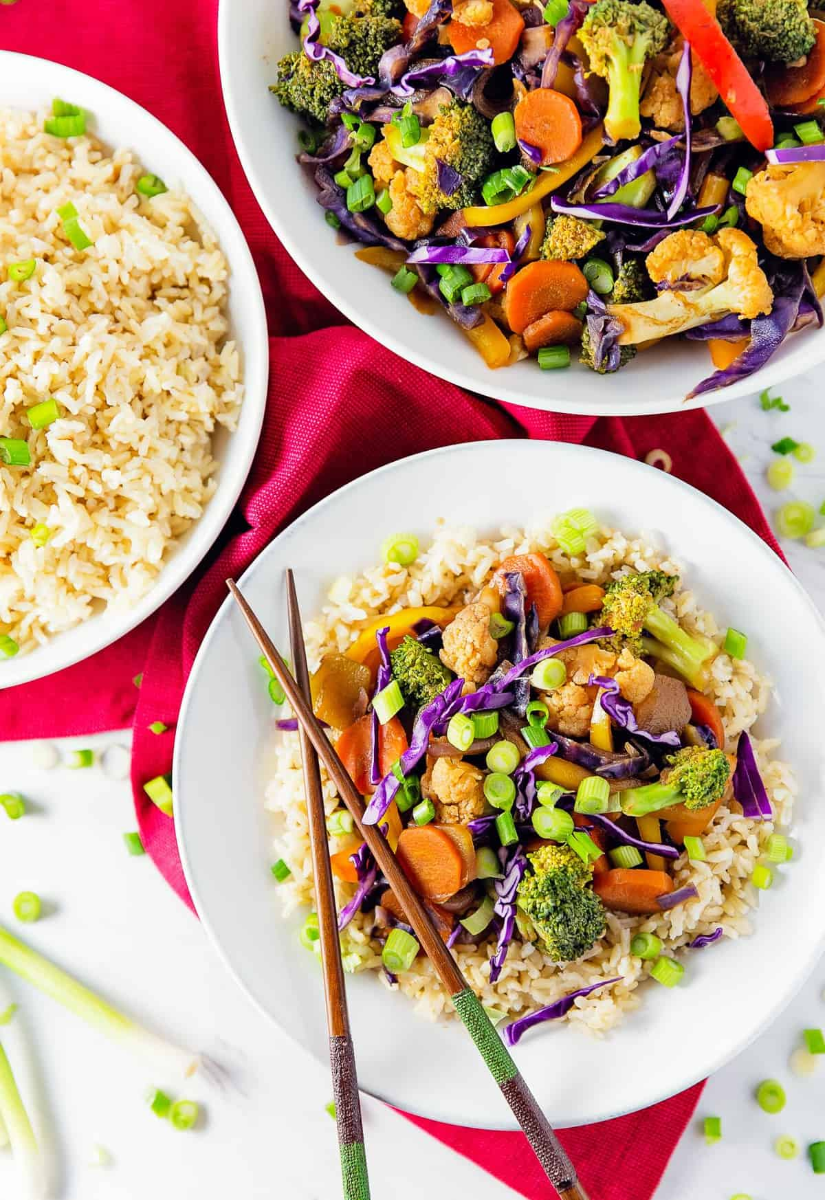 Thai stir fry monkey and me kitchen adventures thai stir fry asian broccoli cauliflower carrots rice vegan forumfinder Choice Image