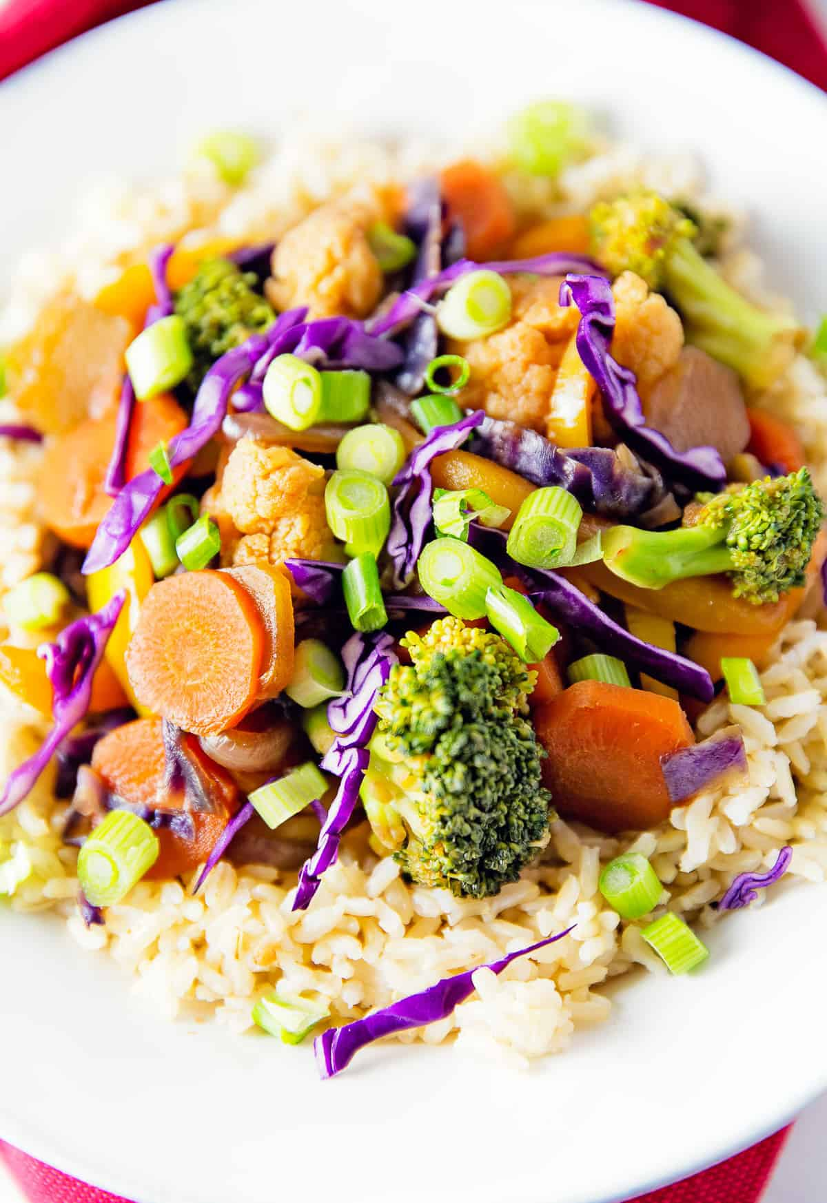 Thai stir fry monkey and me kitchen adventures thai stir fry asian broccoli cauliflower carrots rice vegan forumfinder Image collections