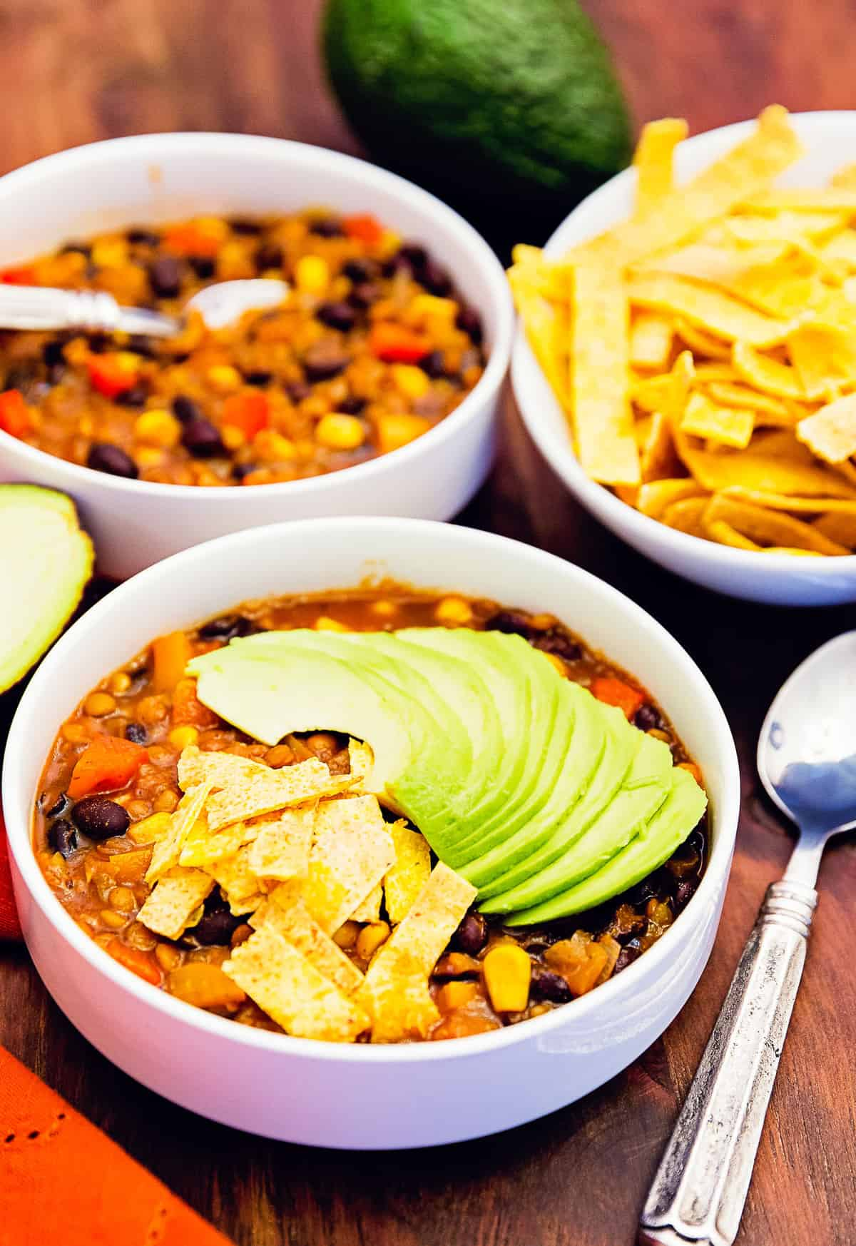 tortilla stew, tortilla soup, whole food plant based, plant based, soup, stew, Mexican, tortilla, vegan, vegetarian, no oil, oil free, refined sugar free, healthy