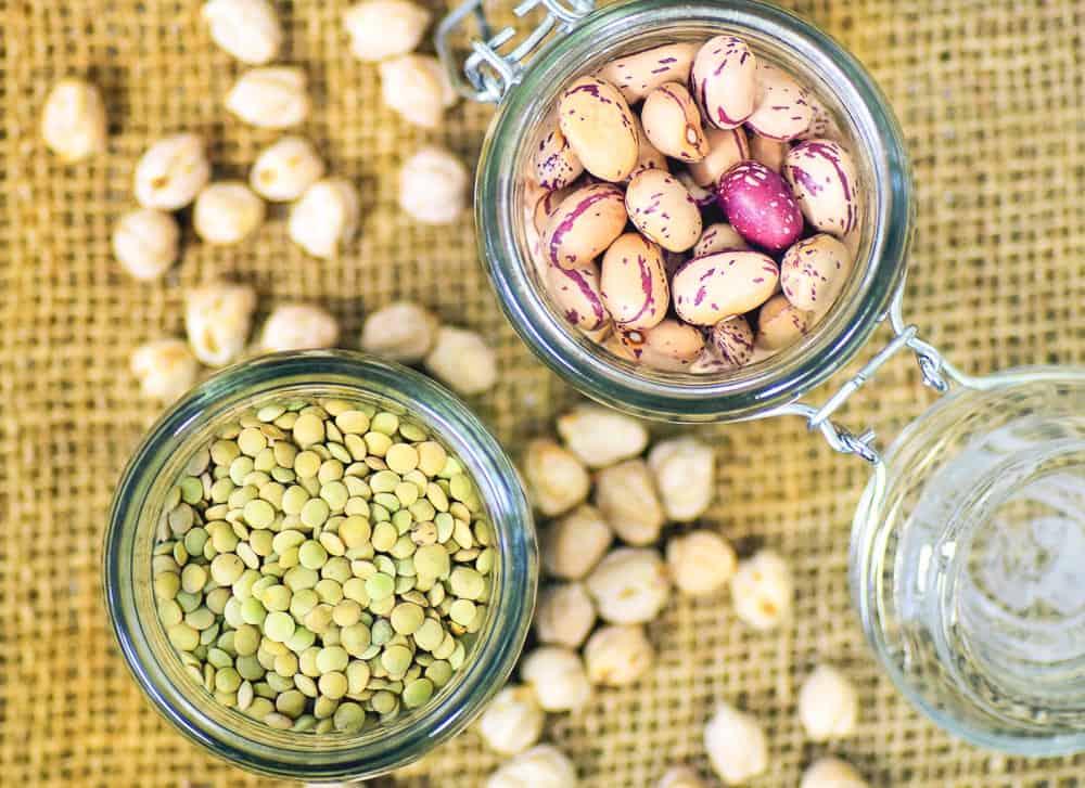 beans, chickpeas, lentils, cranberry beans,garbanzo beans, green lentils