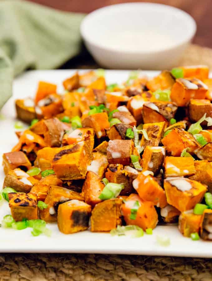 Sweet Potatoes with Tahini Sauce