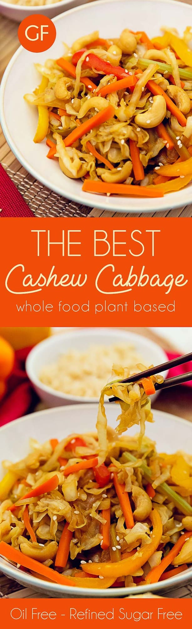 whole food plant based, cashew cabbage stir fry, the best cashew cabbage stir fry, whole food plant based, healthy recipes, recipes, vegan, gluten free, vegetarian, no oil, refined sugar free, wholesome