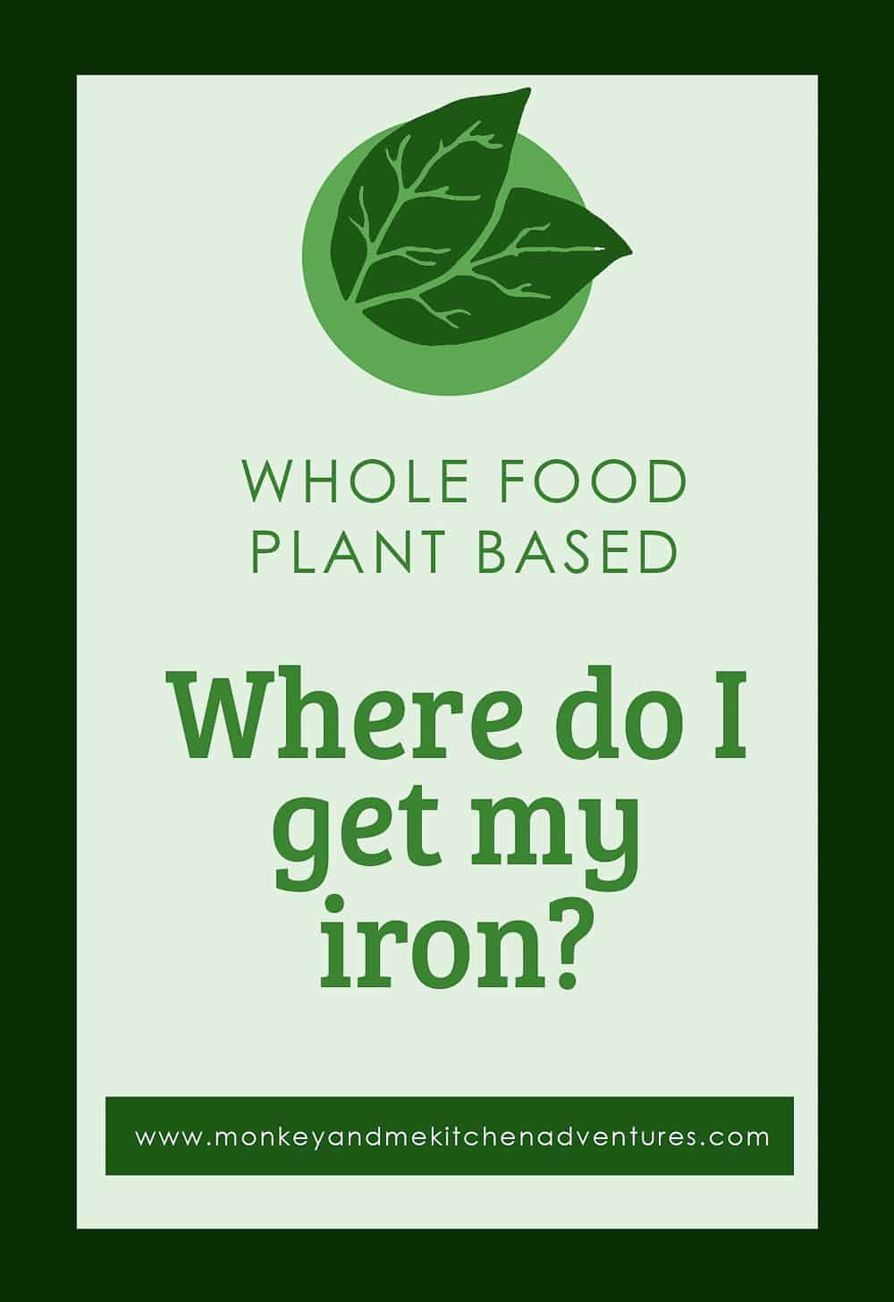Iron, Where do I get my Iron, Whole food Plant Based, Resources