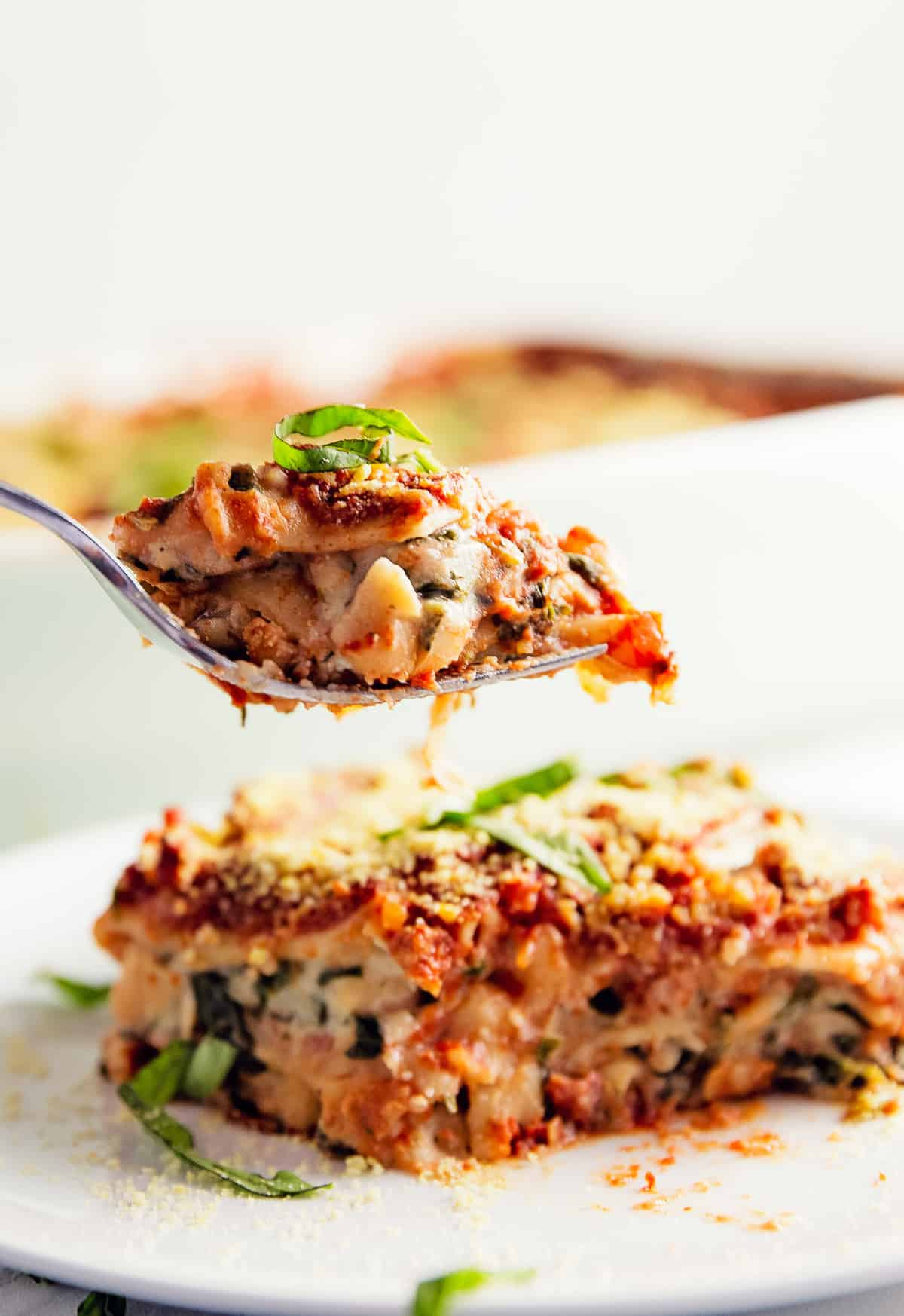 Lasagna, Béchamel and red sauce, marinara, recipe, vegan, vegetarian, whole food plant based, wfpb, gluten free, oil free, refined sugar free, no oil, no refined sugar, no dairy, dinner, lunch, dinner party, entertaining, simple, healthy