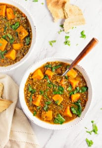 Moroccan Sweet Potato Lentil Stew, vegan, vegetarian, whole food plant based, gluten free, recipe, wfpb, healthy, oil free, no refined sugar, no oil, refined sugar free, dinner, side, side dish, dairy free, dinner party, entertaining
