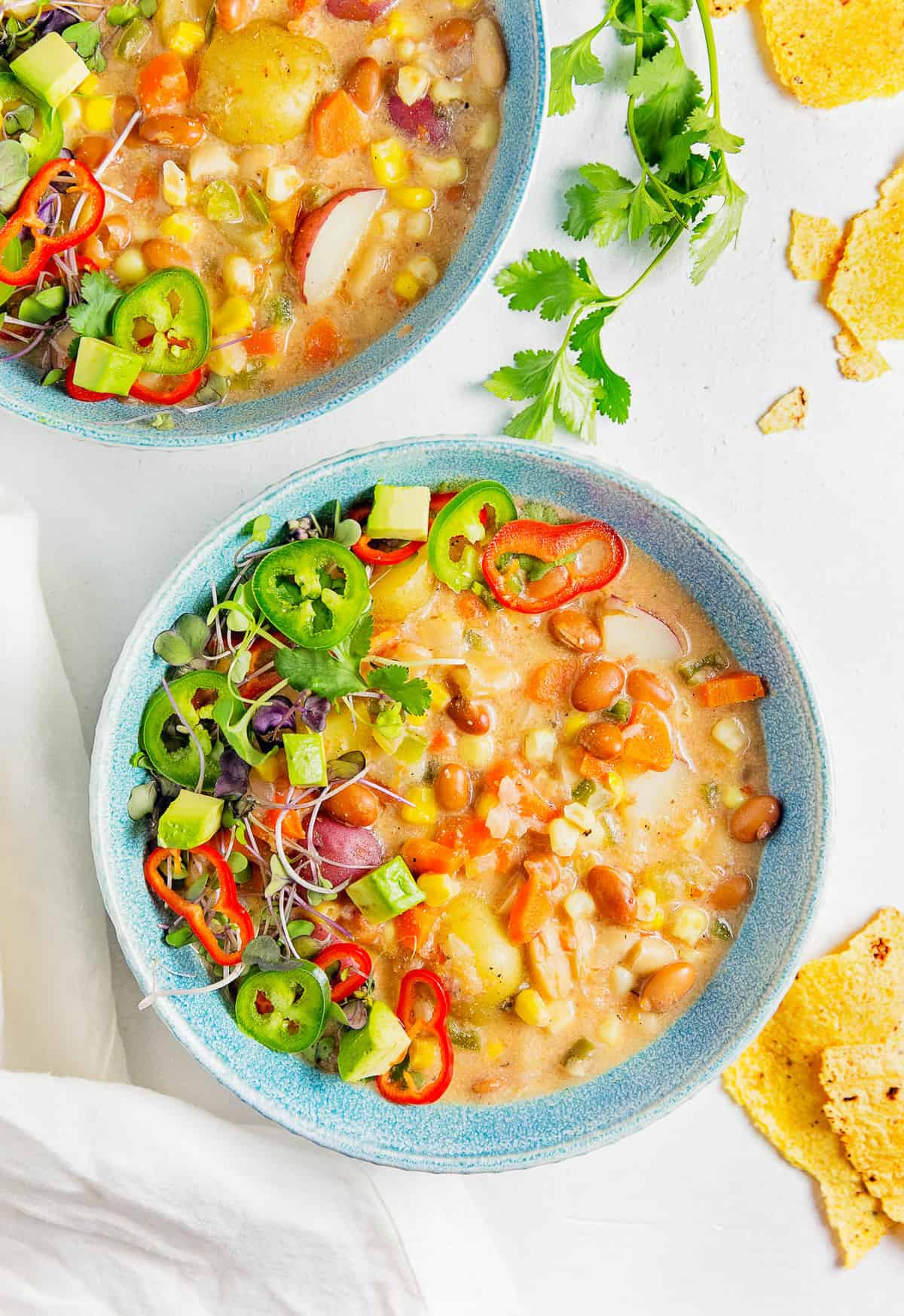 Creamy Southwestern Soup, plant based, vegan, vegetarian, whole food plant based, gluten free, recipe, wfpb, healthy, healthy vegan, oil free, no refined sugar, no oil, refined sugar free, dairy free, dinner party, entertaining, soup, stew
