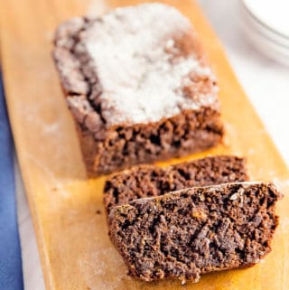 Fudgy Chocolate Banana Bread, vegan, vegetarian, whole food plant based, gluten free, recipe, wfpb, healthy, oil free, no refined sugar, no oil, refined sugar free, dinner, side, side dish, dairy free, dinner party, entertaining