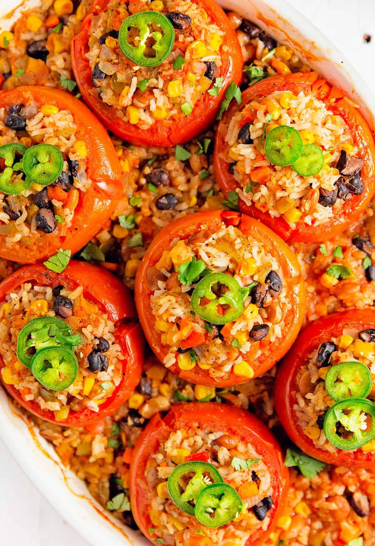 Southwestern Stuffed Tomatoes, plant based, vegan, vegetarian, whole food plant based, gluten free, recipe, wfpb, healthy, healthy vegan, oil free, no refined sugar, no oil, refined sugar free, dairy free, dinner party, entertaining, dinner