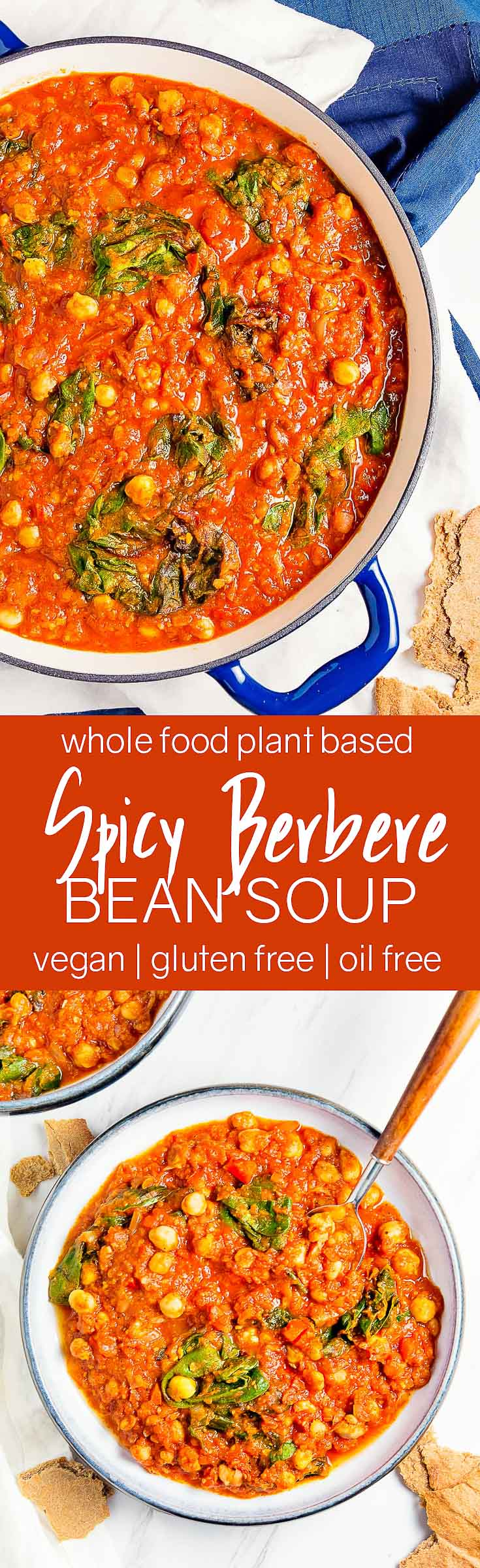 Spicy Berbere Bean Stew, plant based, vegan, vegetarian, whole food plant based, gluten free, recipe, wfpb, healthy, healthy vegan, oil free, no refined sugar, no oil, refined sugar free, dairy free, dinner party, entertaining, stew