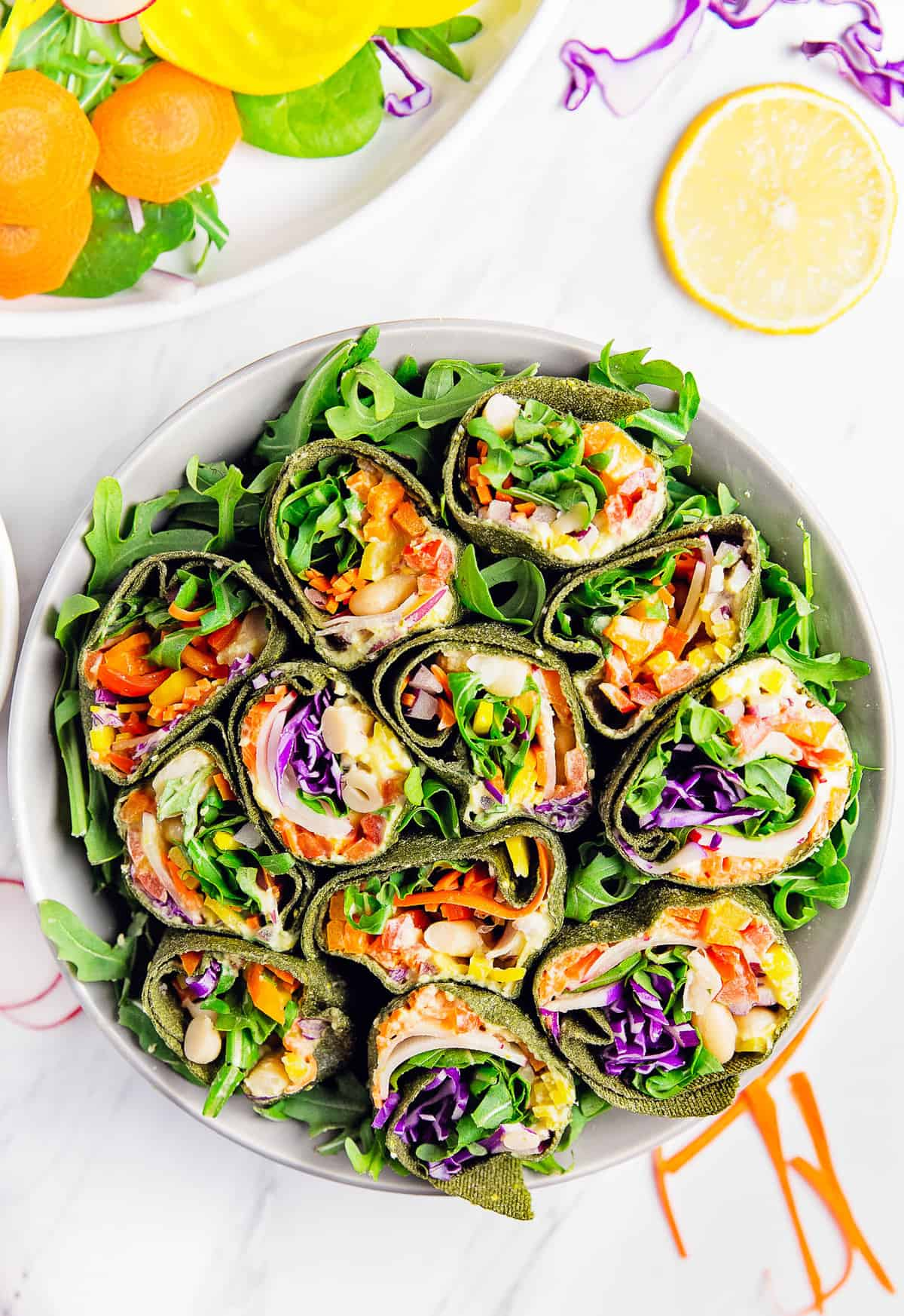 Veggie Wrap with Pickled Hummus, vegan, vegetarian, whole food plant based, gluten free, recipe, wfpb, healthy, oil free, no refined sugar, no oil, refined sugar free, dairy free, dinner party, entertaining