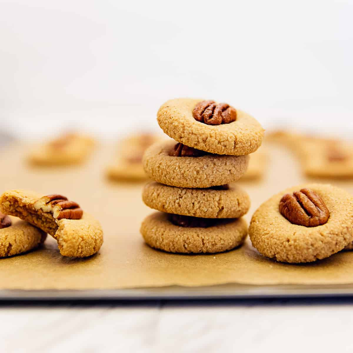 old fashioned maple pecan cookies, cookies, recipe, vegan, vegetarian, whole food plant based, wfpb, gluten free, oil free, refined sugar free, no oil, no refined sugar, no dairy, dessert, sweets, dinner party, entertaining, simple, healthy