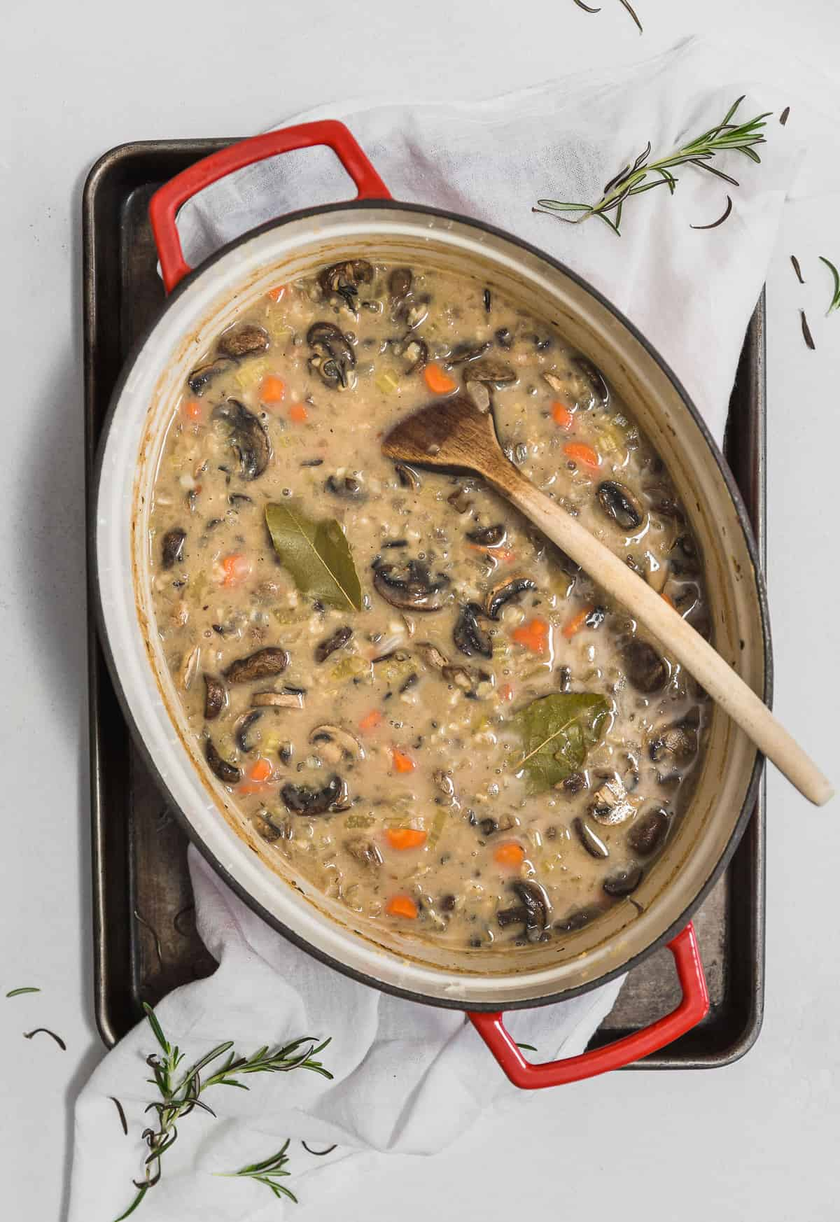Creamy Mushroom and Wild Rice Soup, plant based, vegan, vegetarian, whole food plant based, gluten free, recipe, wfpb, healthy, healthy vegan, oil free, no refined sugar, no oil, refined sugar free, dairy free, dinner party, entertaining, soup