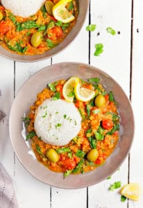 Moroccan Red Lentil Tomato Stew Monkey And Me Kitchen