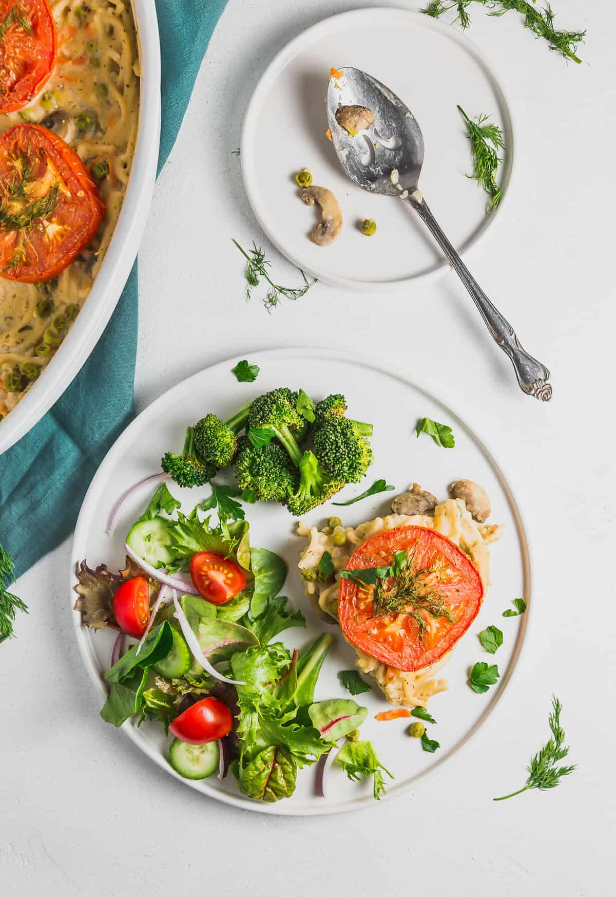 Spaghetti Pie, plant based, vegan, vegetarian, whole food plant based, gluten free, recipe, wfpb, healthy, healthy vegan, oil free, no refined sugar, no oil, refined sugar free, dairy free, dinner party, entertaining, dinner, lunch, pasta