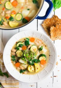 Tarragon Tuscan Soup, plant based, vegan, vegetarian, whole food plant based, gluten free, recipe, wfpb, healthy, healthy vegan, oil free, no refined sugar, no oil, refined sugar free, dairy free, dinner party, entertaining, soup,