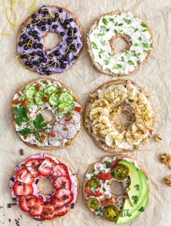 Quinoa Bagels, plant based, vegan, vegetarian, whole food plant based, gluten free, recipe, wfpb, healthy, healthy vegan, oil free, no refined sugar, no oil, refined sugar free, dairy free, breakfast, bagels, quinoa, cream cheese