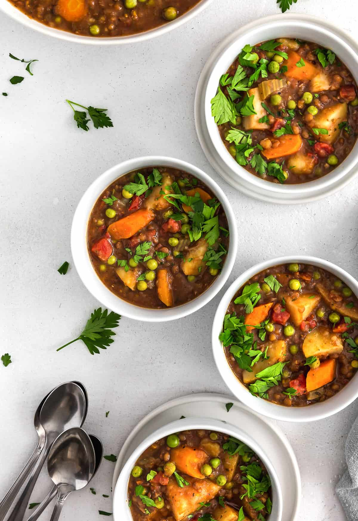 Instant Pot Beef Stew, plant based, vegan, vegetarian, whole food plant based, gluten free, recipe, wfpb, healthy, healthy vegan, oil free, no refined sugar, no oil, refined sugar free, dairy free, lentils, stew, dinner, Instant Pot