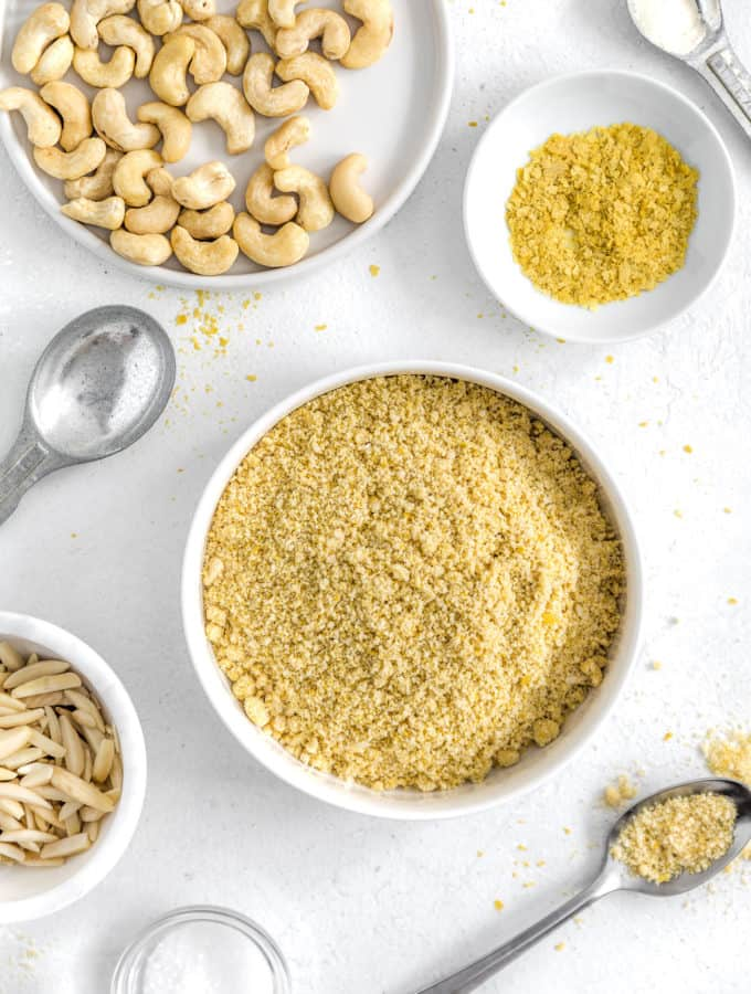 Vegan Parmesan Cheese, vegan cheese, vegan Parmesan, plant based cheese, plant based, vegan, vegetarian, whole food plant based, gluten free, recipe, wfpb, healthy, healthy vegan, oil free, no refined sugar, no oil, refined sugar free, dairy free, condiment, vegan condiment