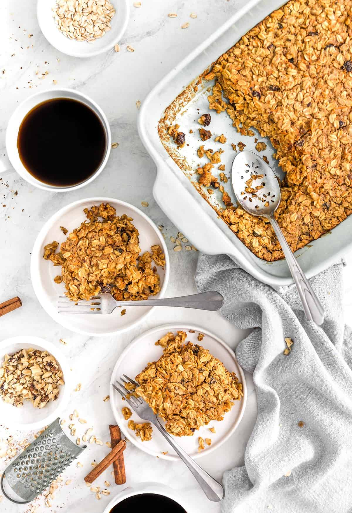 Carrot Cake Oatmeal Breakfast Bake Monkey And Me Kitchen Adventures
