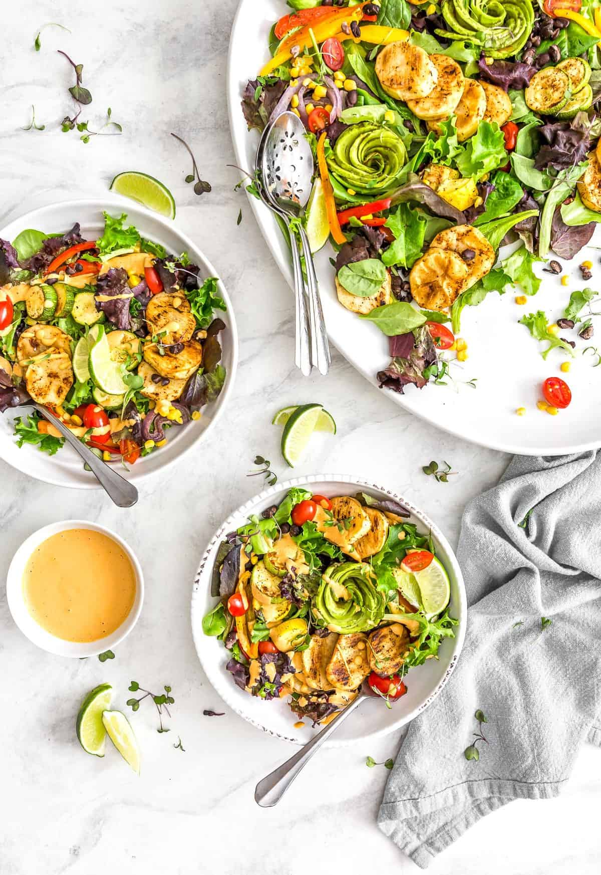 Southwestern Roasted Veggie Salad, Vegan salad, roasted veggie salad, vegan roasted veggie, roasted veggies, salad, plant based salad, plant based, vegan, vegetarian, whole food plant based, gluten free, recipe, wfpb, healthy, healthy vegan, oil free, no refined sugar, no oil, refined sugar free, dairy free, dairy, dinner, lunch, healthy recipe, southwestern recipe