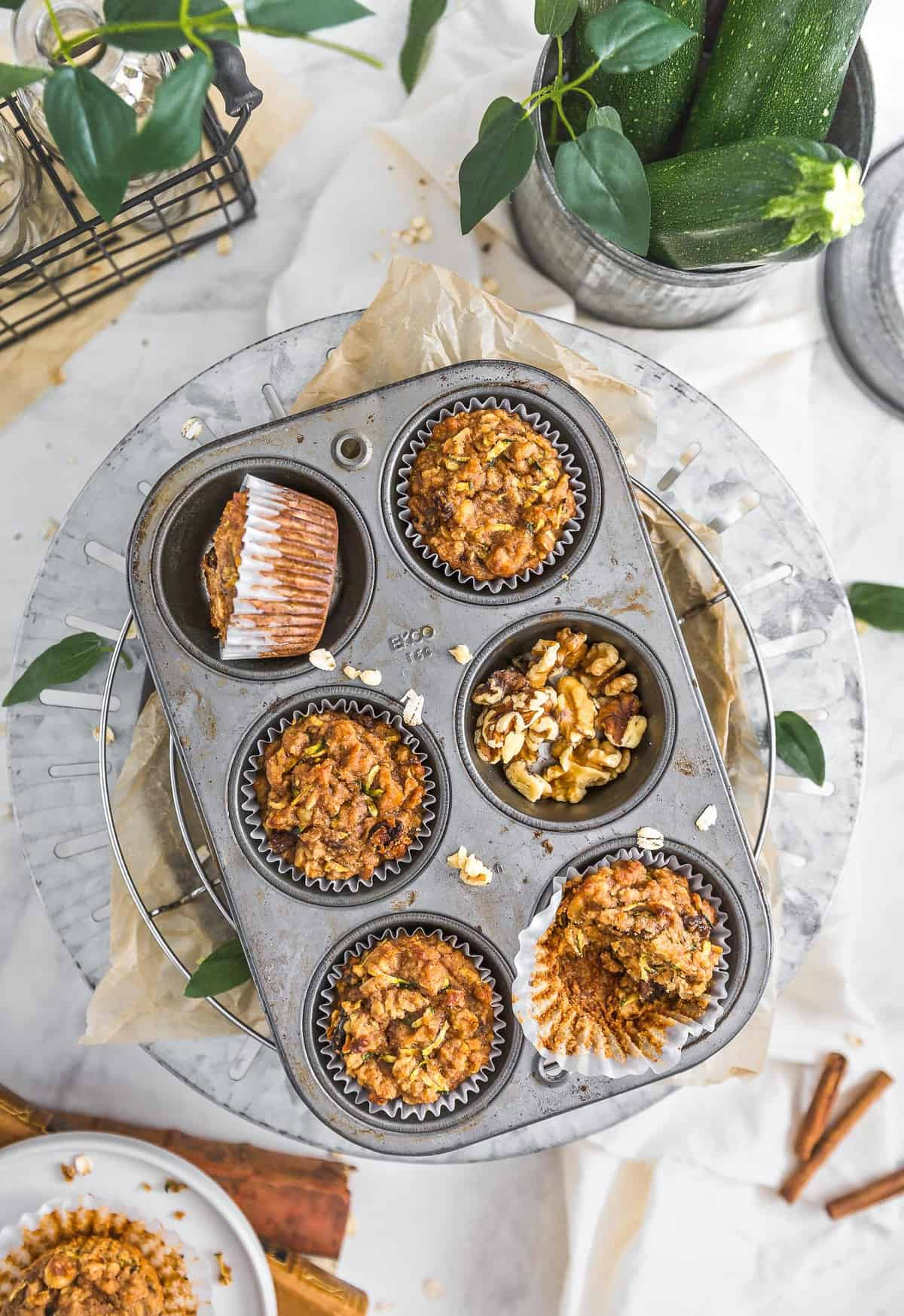 Vegan Zucchini Muffins, zucchini muffins, vegan dessert, muffins, zucchini, dessert, plant based dessert, plant based, vegan, vegetarian, whole food plant based, gluten free, recipe, wfpb, healthy, healthy vegan, oil free, no refined sugar, no oil, refined sugar free, dairy free, sweets, healthy recipe, vegan meal