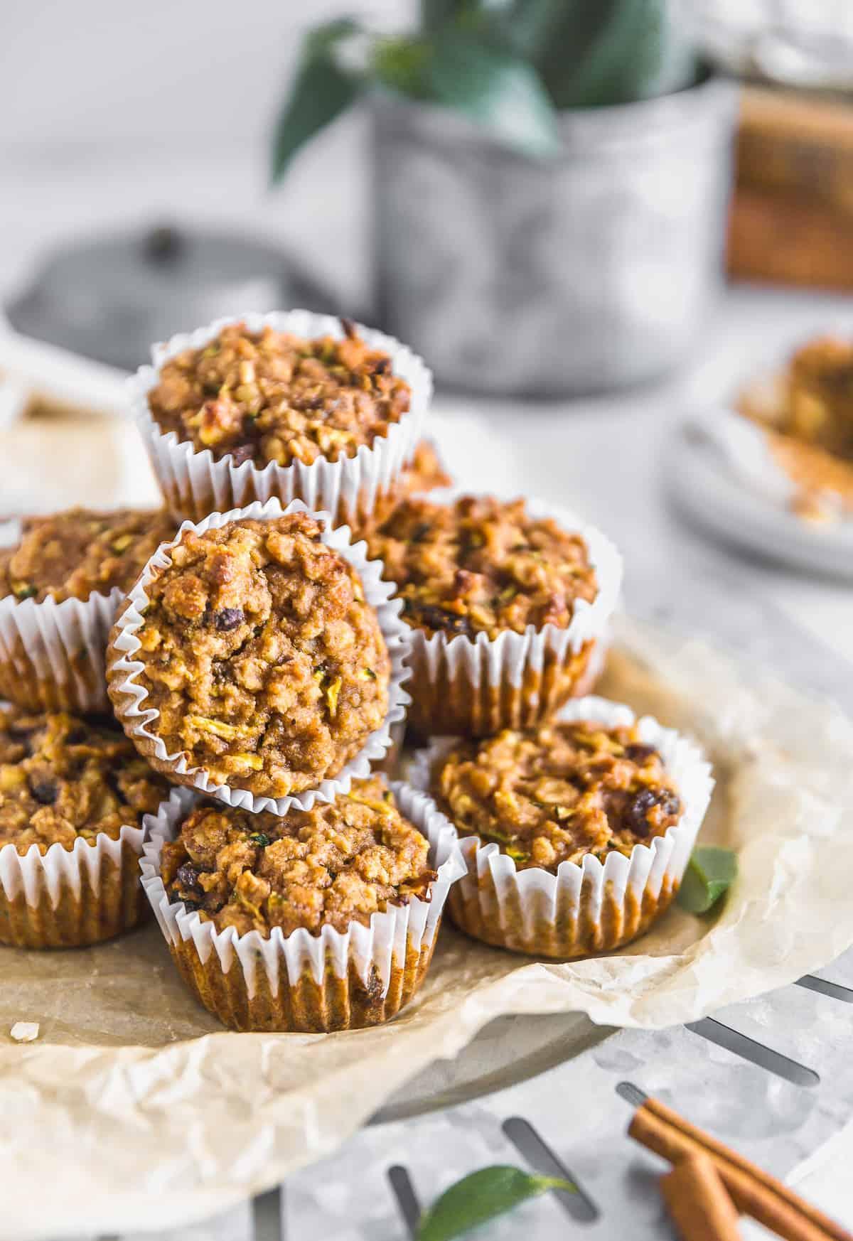 Vegan Zucchini Muffins, zucchini muffins, vegan dessert, muffins, zucchini, dessert, plant based dessert, plant based, vegan, vegetarian, whole food plant based, gluten free, recipe, wfpb, healthy, healthy vegan, oil free, no refined sugar, no oil, refined sugar free, dairy free, sweets, healthy recipe, vegan meal