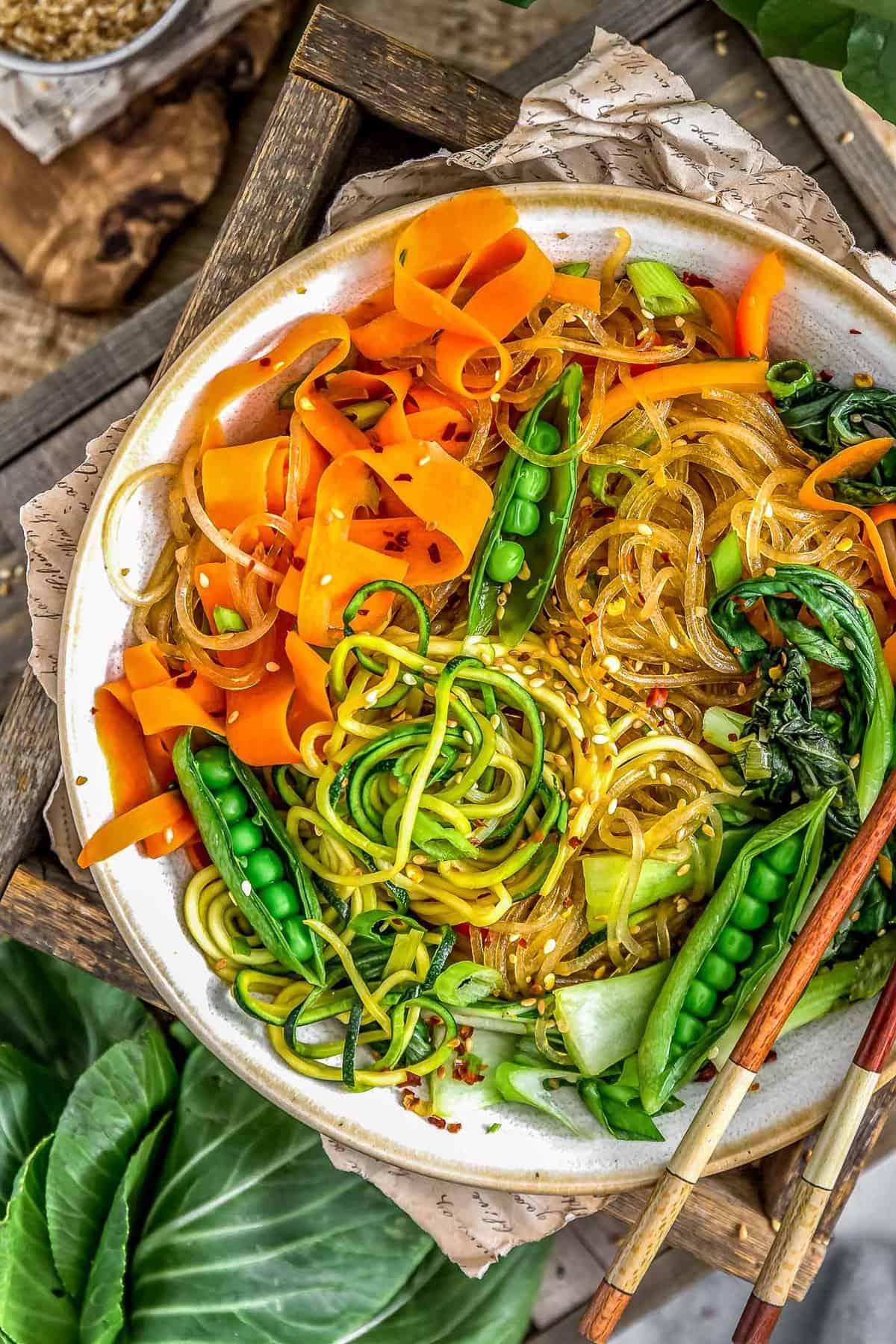Vegan Korean Glass Noodles Monkey And Me Kitchen Adventures
