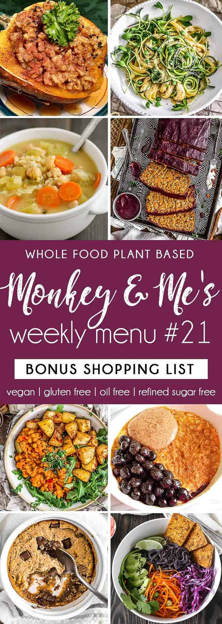 Monkey and Me's Menu 21 featuring 8 recipes