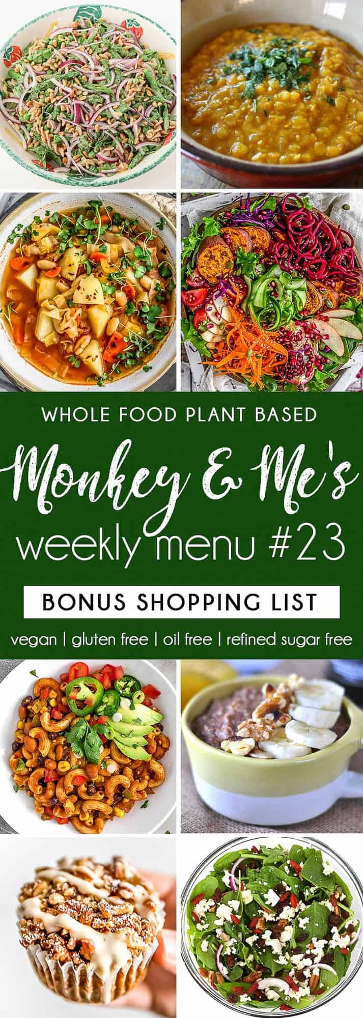 Monkey and Me's Menu 23 featuring 8 recipes