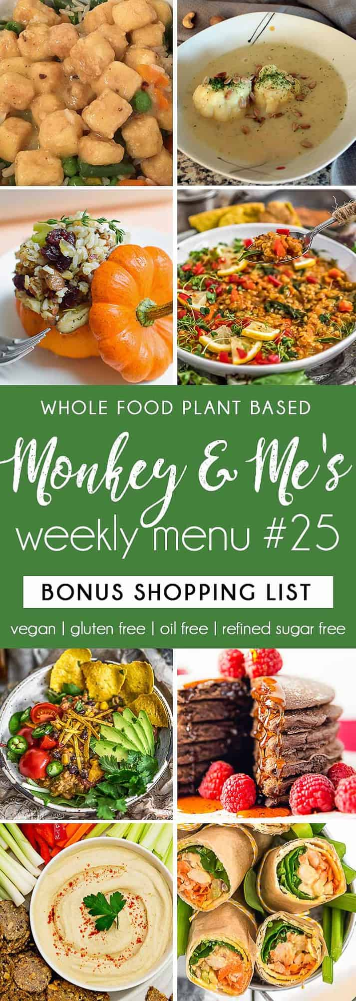 Monkey and Me's Menu 25 featuring 8 recipes