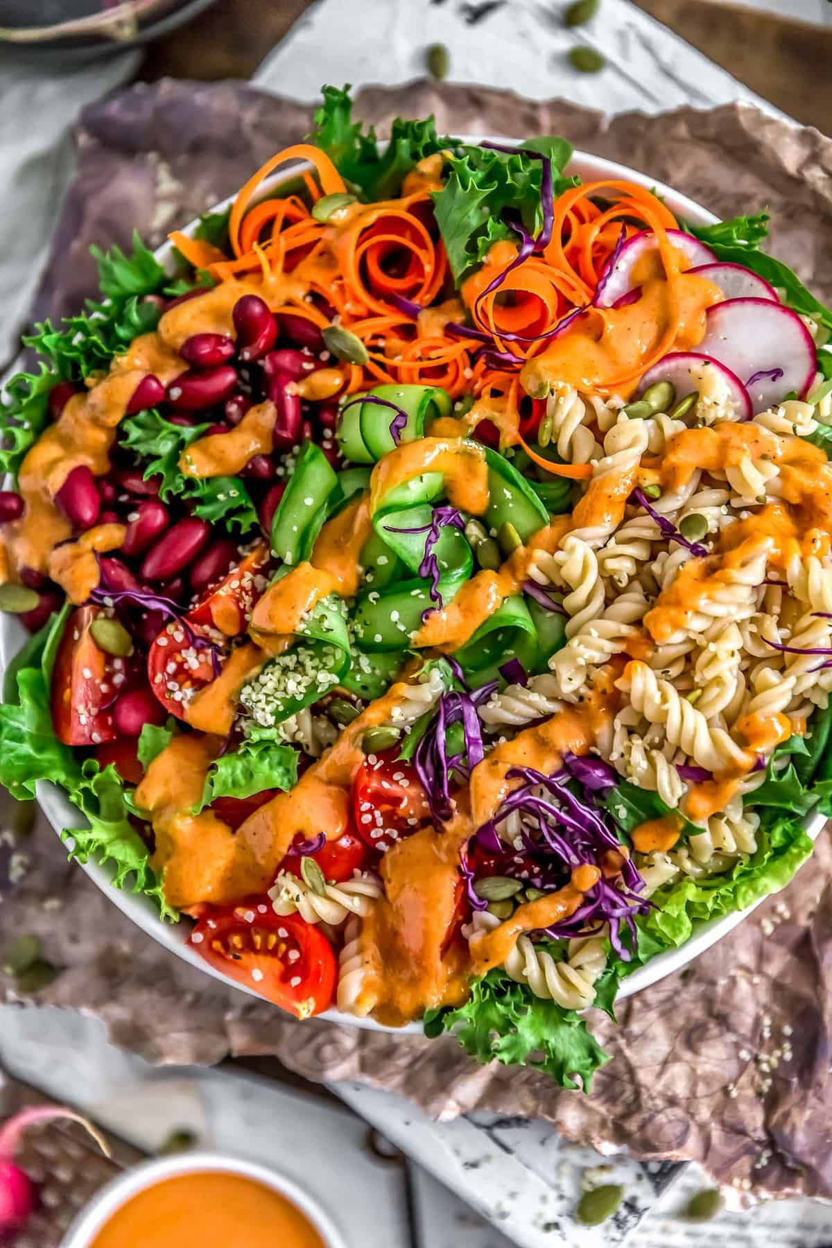 Oil Free Catalina Dressing on veggie bowl