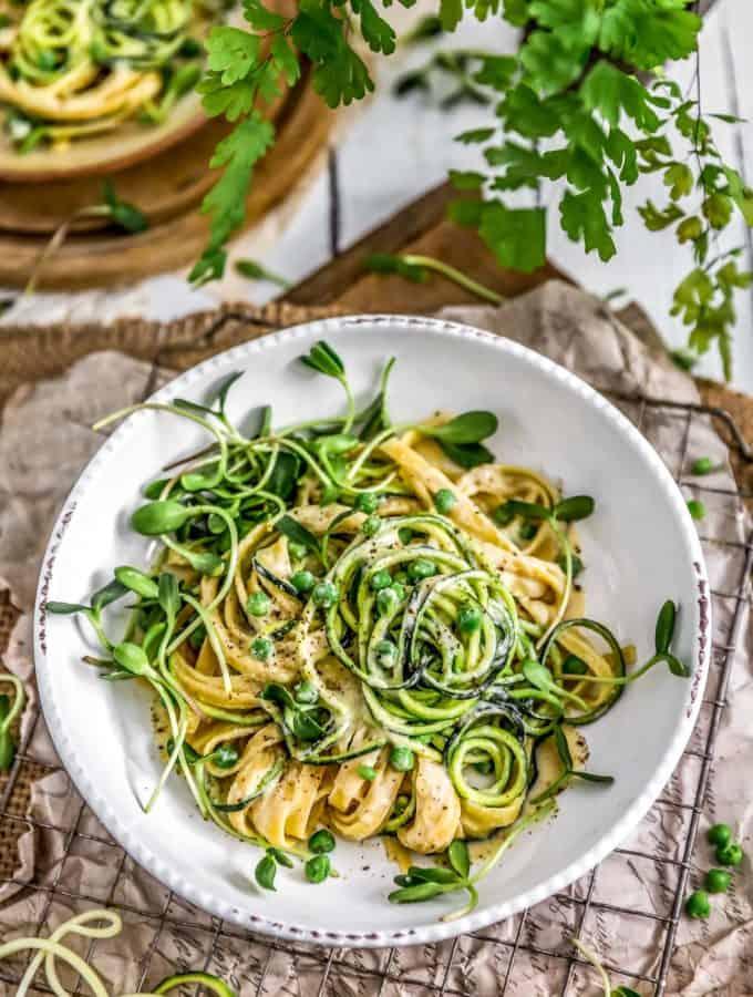 Vegan Cashew Alfredo Sauce with pasta