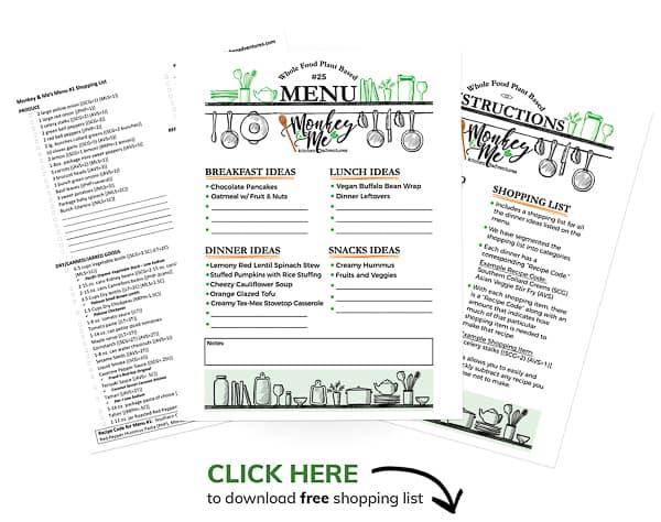 Monkey and Me's Menu 25 PDF Display