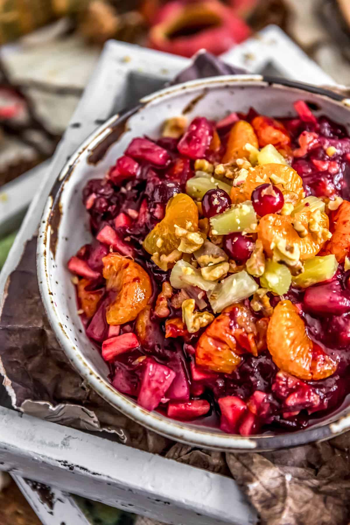 Close up of Cranberry Fruit Salad