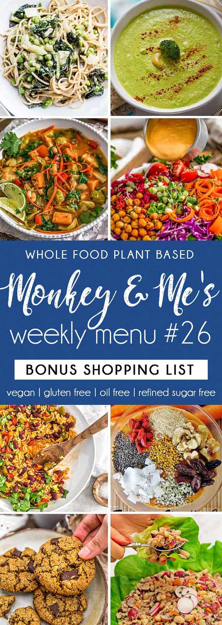 Monkey and Me's Menu 26 featuring 8 recipes
