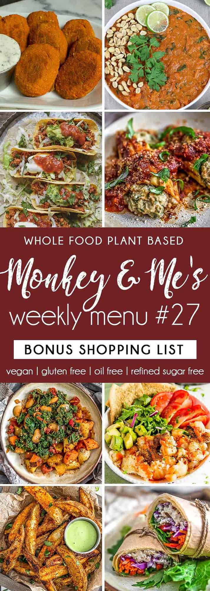 Monkey and Me's Menu 27 featuring 8 recipes
