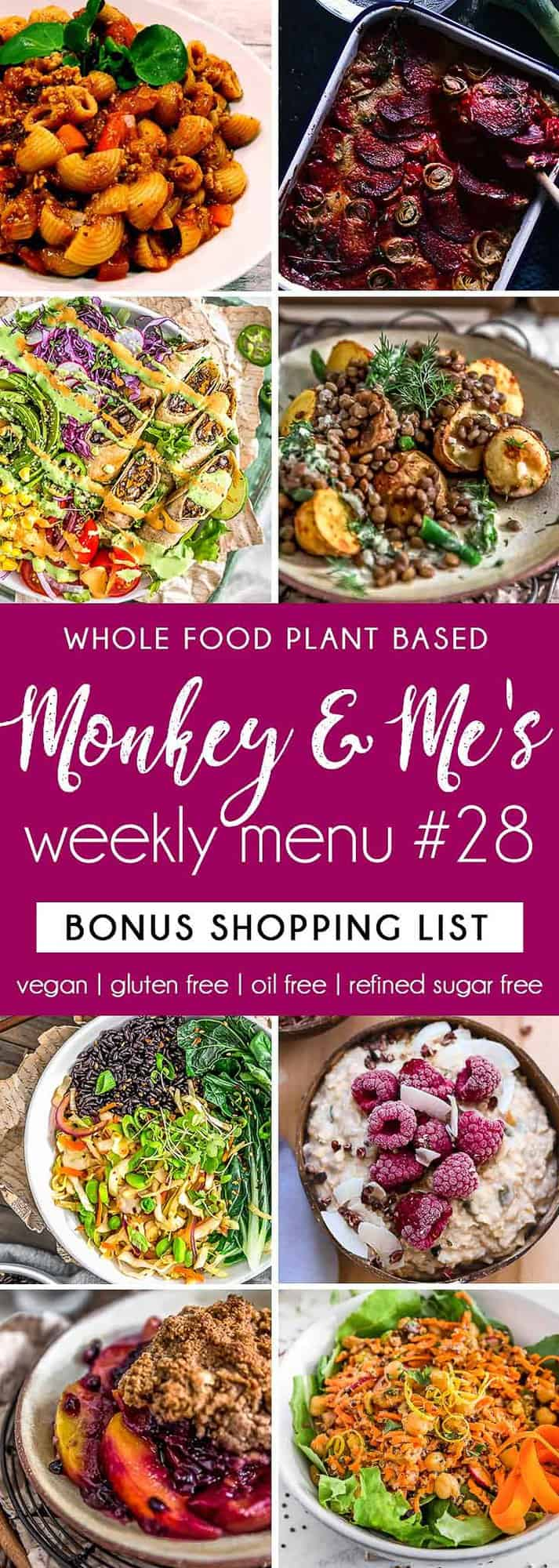 Monkey and Me's Menu 28 featuring 8 recipes