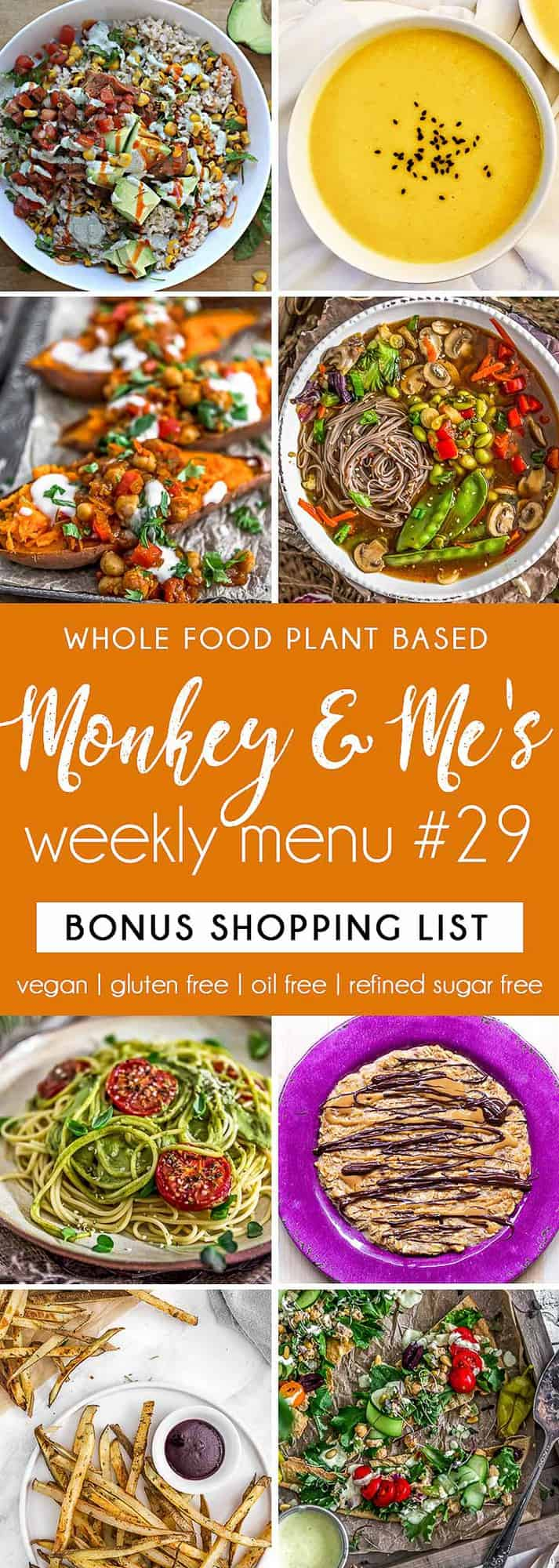 Monkey and Me's Menu 29 featuring 8 recipes