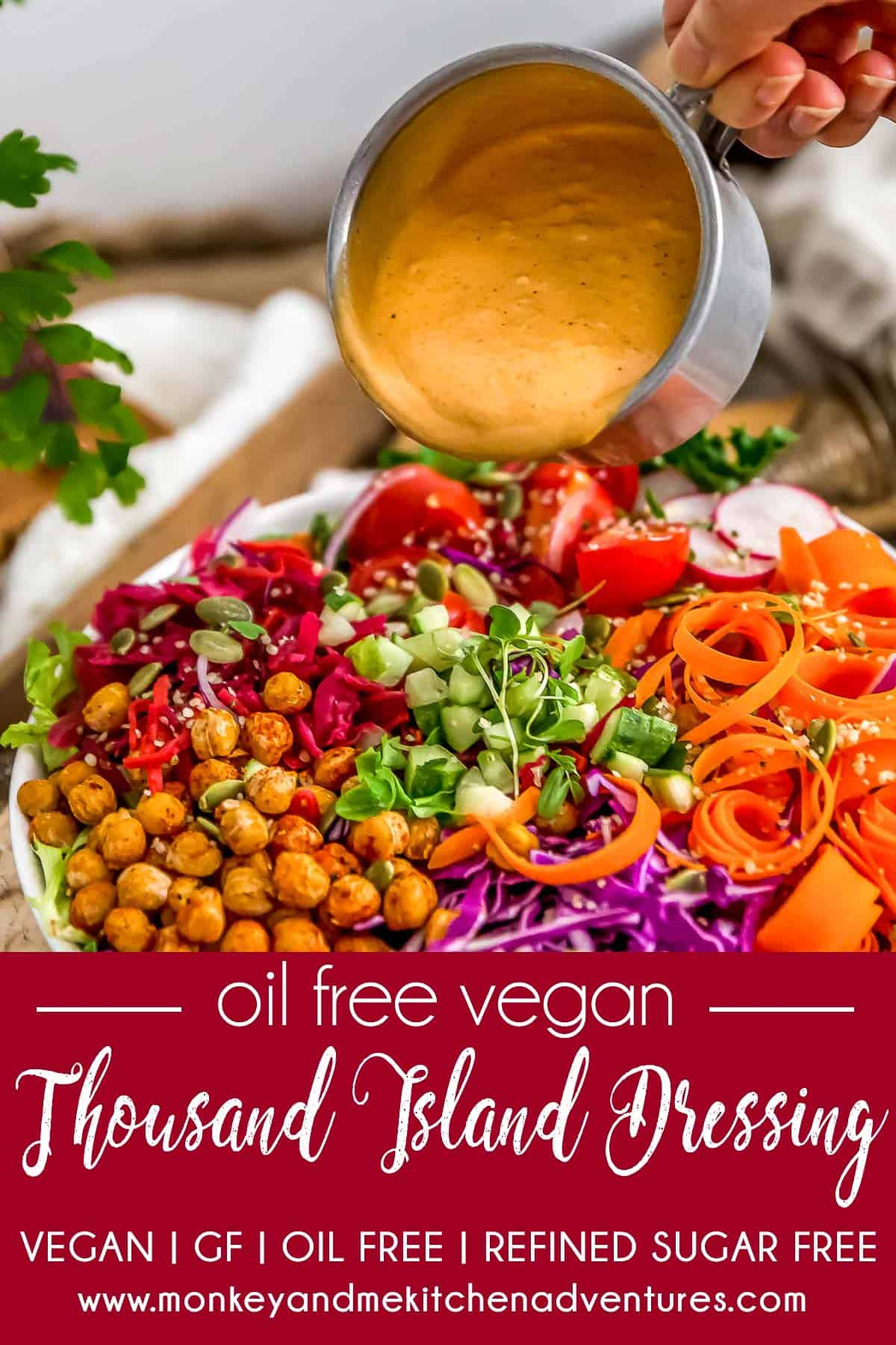 Oil Free Vegan Thousand Island Dressing with text description
