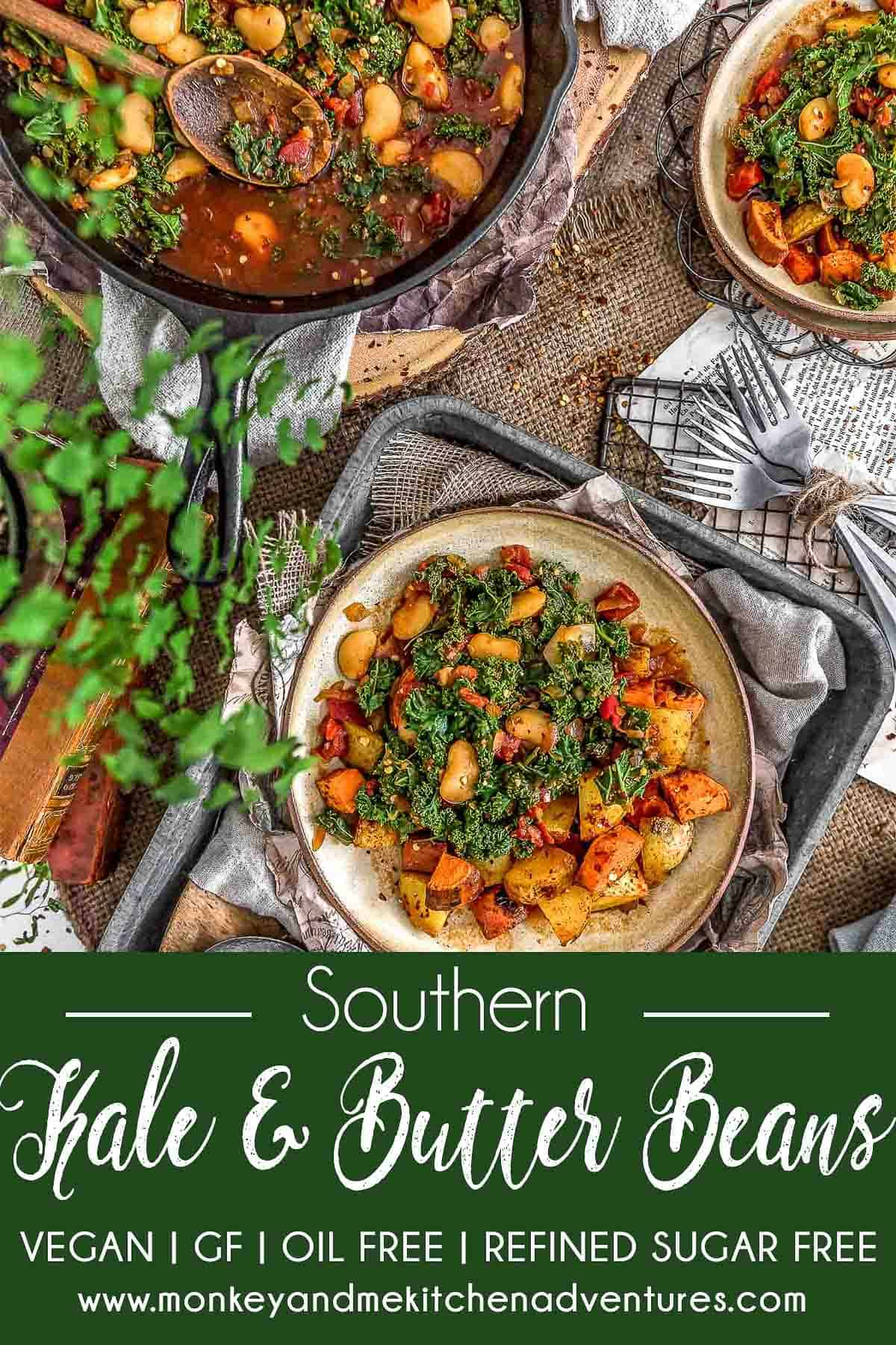 Southern Kale and Butter Beans with text description