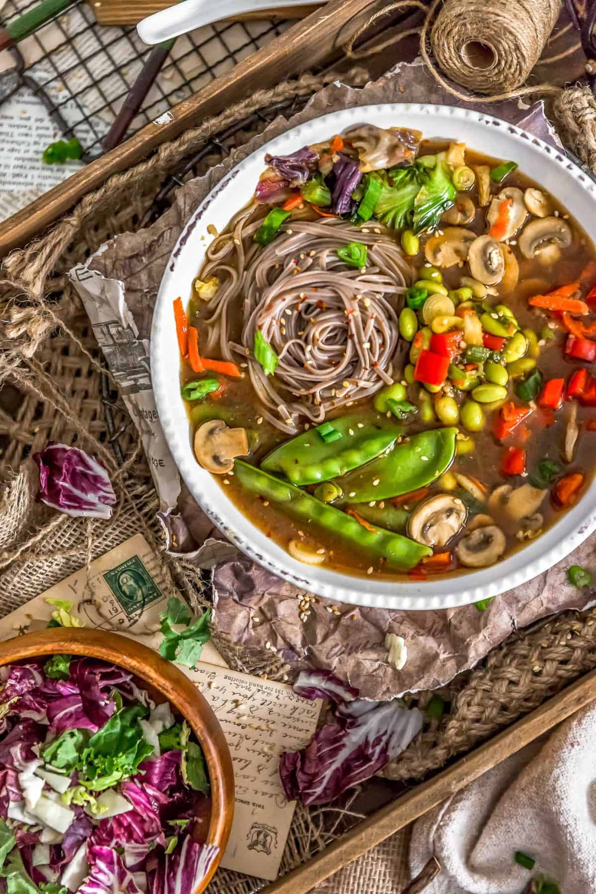Vegan Veggie Miso Soup in a bowl
