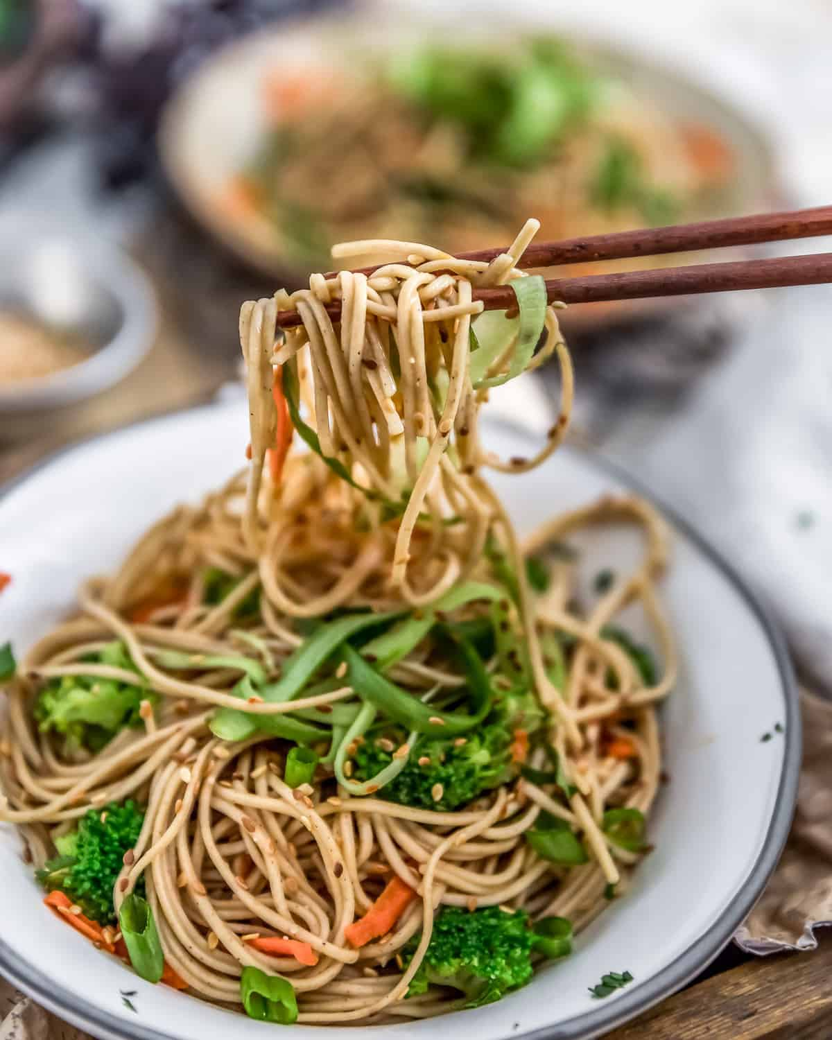 Chopsticks with Broccoli Soba Noodle Salad