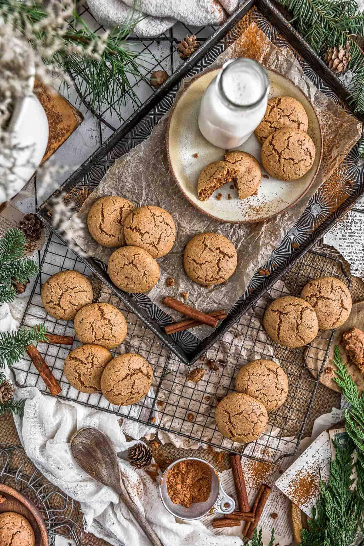Tablescape Healthy Vegan Snickerdoodles