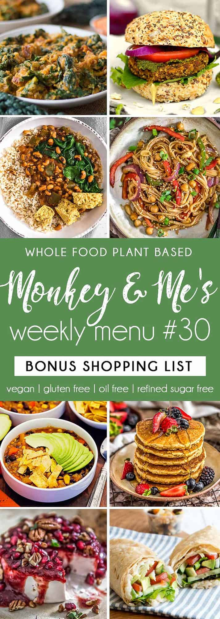 Monkey and Me's Menu 30 featuring 8 recipes